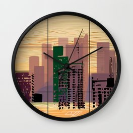 Downtown Square Wall Clock