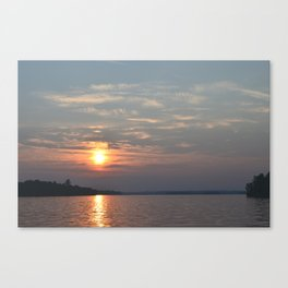 Sundown on Pelican Lake Canvas Print