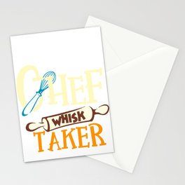 Cook Print Line Cook Print Chef Cooking Gift Whisk Taker Print Stationery Cards