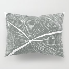 Locust Tree ring image, woodcut print Pillow Sham