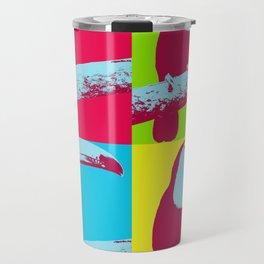Tropical Toucan Pop Art Graphic Travel Mug