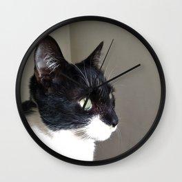 looking cat Wall Clock