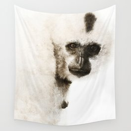 Crested Gibbon Wall Tapestry