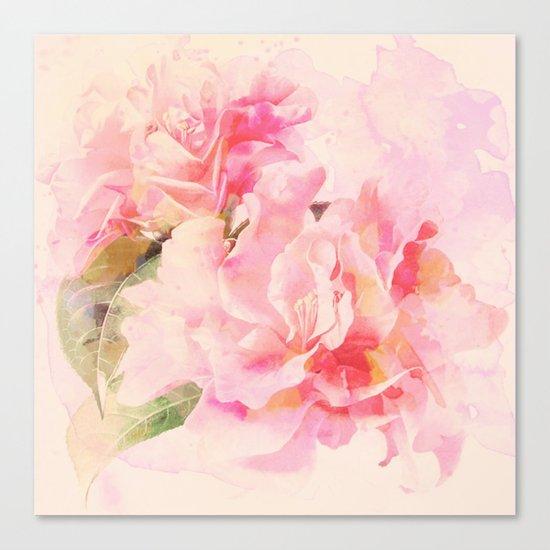 douces fleurs roses Canvas Print