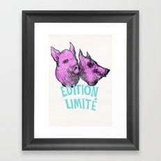 pig et wolf Framed Art Print