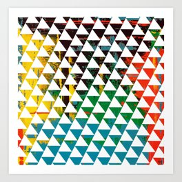 Color Chrome -geometric graphic Art Print