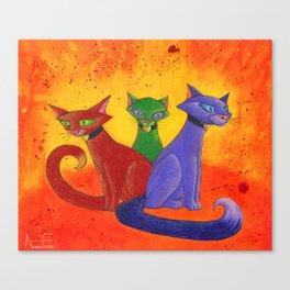 The Cat Trio Canvas Print
