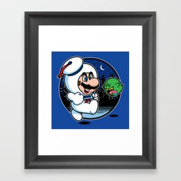 Super Marshmallow Bros. Framed Art Print