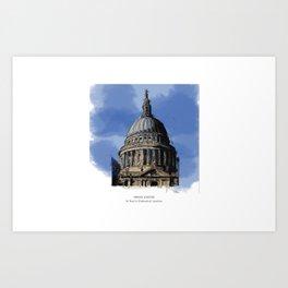 St Paul's Catherdral, London. Art Print