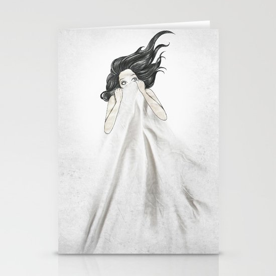 White As A Sheet Stationery Cards