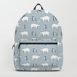 Penguin Polar Bear Pattern Backpack
