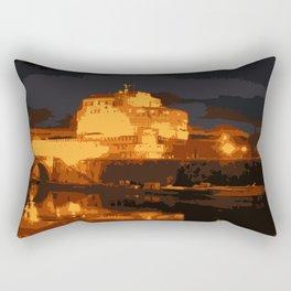 Castel Sant'Angelo, Summer Evening Rectangular Pillow