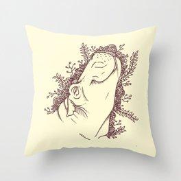Fabulous Hippo Throw Pillow