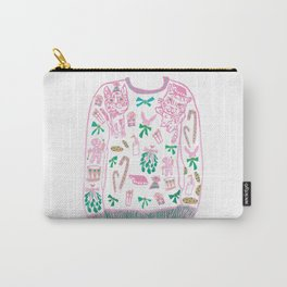 Ugly (but cute) Christmas Sweater Carry-All Pouch