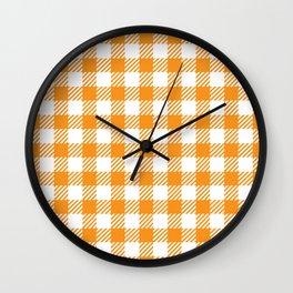 Orange Vichy Wall Clock