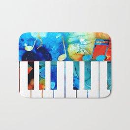 Colorful Piano Art by Sharon Cummings Bath Mat