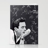 johnny cash Stationery Cards featuring Johnny Cash by Iany Trisuzzi