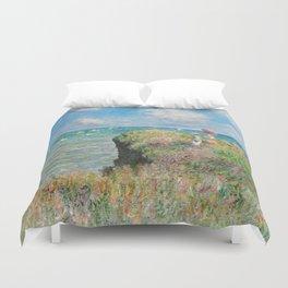 1882-Claude Monet-Cliff Walk at Pourville-66 x 82 Duvet Cover