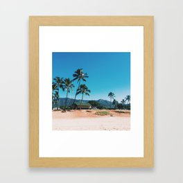 Easy Island Living Framed Art Print
