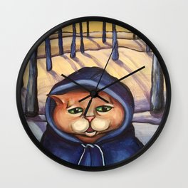 Winter (Kitty) is Coming Wall Clock