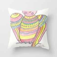 Owl hand drawing Throw Pillow