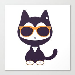 Cute kitten in sunglasses Canvas Print