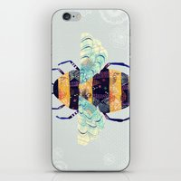 bee iPhone & iPod Skins featuring bee by Yellow Button Studio