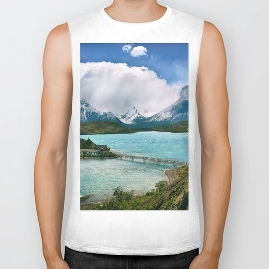 Magestic Landscape #photography #society6 #ocean#mountians Biker Tank