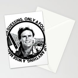 MacGyver said: Only a fool is sure of anything. A wise man keeps on guessing Stationery Cards