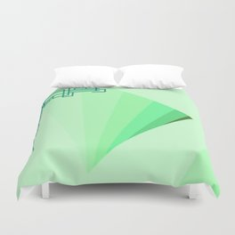 Eleganza 09,green Duvet Cover