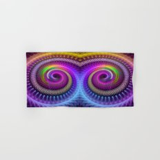 Colorful textured spiral abstract Hand & Bath Towel