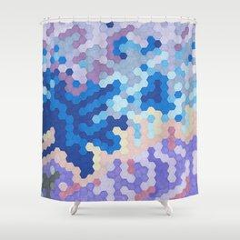 Nebula Hex Shower Curtain