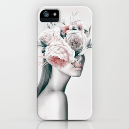 WOMAN WITH FLOWERS 11 iPhone Case