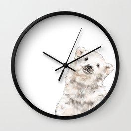 Baby Polar Bear Wall Clock