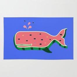 Watermelon whale Rug