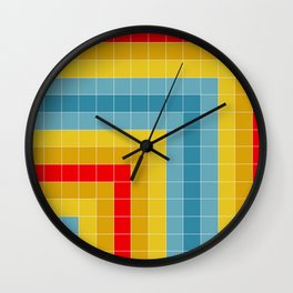 Grid in Roller Rink Wall Clock