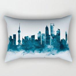 Shanghai Skyline Rectangular Pillow