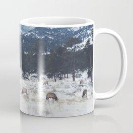 Elk herd in the Rockies Coffee Mug