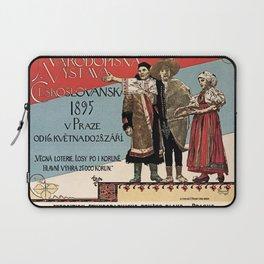 Czechoslav ethnographic exposition vintage ad Laptop Sleeve