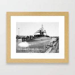 USS WOODROW WILSON (SSBN-624) Framed Art Print