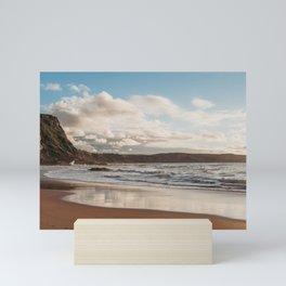 Beach in Cantabria. Coastal landscape, north of Spain Mini Art Print