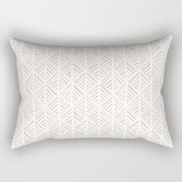 Abstract Leaf Pattern in Tan Rectangular Pillow
