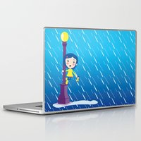 coraline Laptop & iPad Skins featuring Singin' in the rain by geminiska