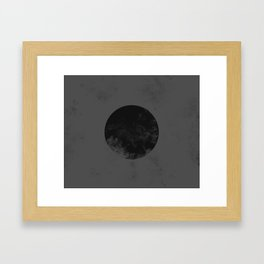 Black Japan Flag Framed Art Print