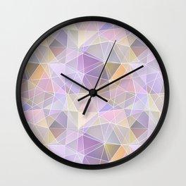Pink, lilac, orange polygon Wall Clock