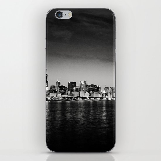 Chicago Skyline at Night iPhone & iPod Skin