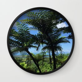 Daintree rainforest fern trees Wall Clock