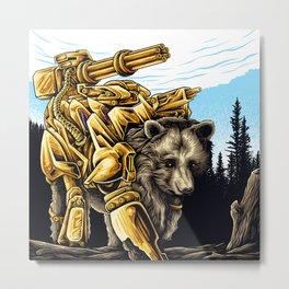 Golden Bearborg Metal Print