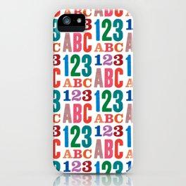 ABC 123 iPhone Case