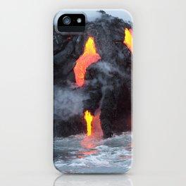 Kalapana Lava Flow on The Big Island of Hawaii iPhone Case